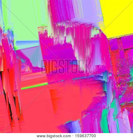 Background of glitch manipulations. Abstract artistic flow of glass texture in blue shades. It can be used for web design and visualization of music