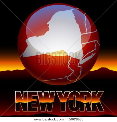 United states of america symbol of new york state