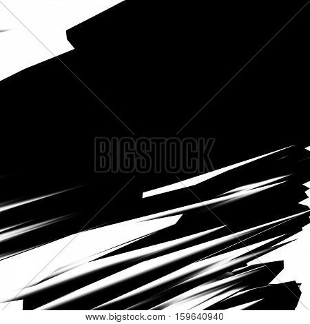 Background of glitch manipulations. Black and white abstract shapes. it can be used for web design and visualization of music.