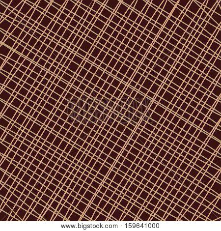 Textile braided background thread  fabric. Vector illustration.
