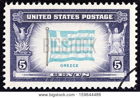USA - CIRCA 1943: A stamp printed in USA from the