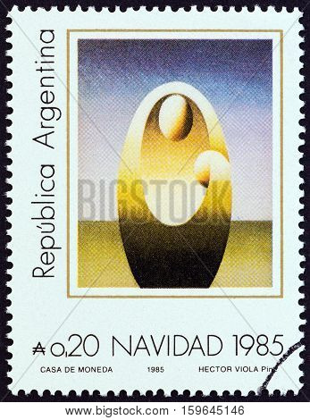 ARGENTINA - CIRCA 1985: A stamp printed in Argentina from the