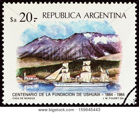 ARGENTINA - CIRCA 1984: A stamp printed in Argentina from the