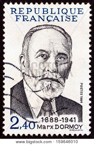 FRANCE - CIRCA 1984: A stamp printed in France shows Marx Dormoy, circa 1984.