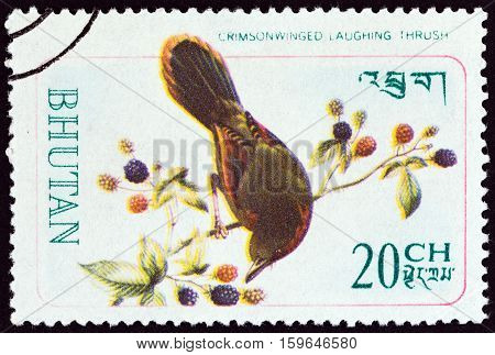 BHUTAN - CIRCA 1968: A stamp printed in Bhutan from the