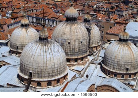 Domes Of St Marks Basilica