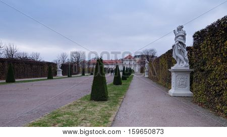 The Lower Belvedere park in Vienna, Austria