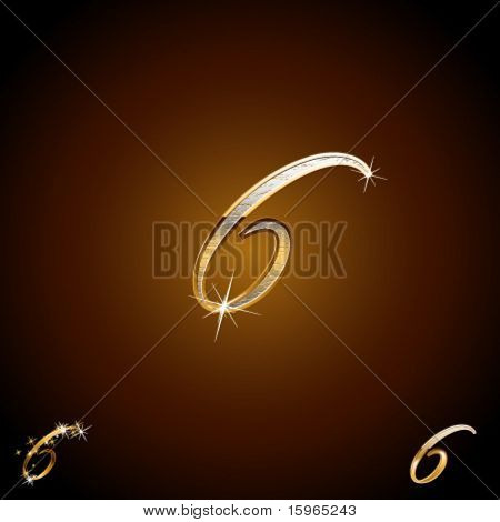 Original luxury typeface. Character 6