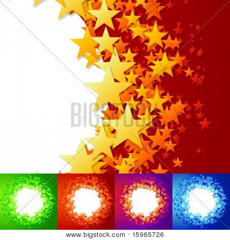 vector illustration of stars background