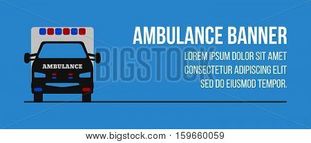 Ambulance Logos And Banners. Elements Of The 911 Emergency Services. Vector Illustration.