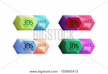 Vector special offer stickers and banners - sale tags, labels or advertising special offer templates. Icon set