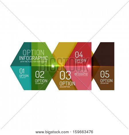 Infographic modern templates - geometric shapes. For banners, business backgrounds, presenations