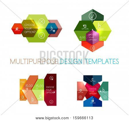 Paper infographic template. For banners, business backgrounds and presentations