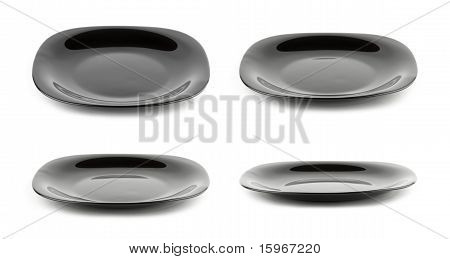 Black Plate Isolated On White