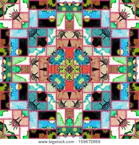 A completely seamless abstract tile-able textile pattern.