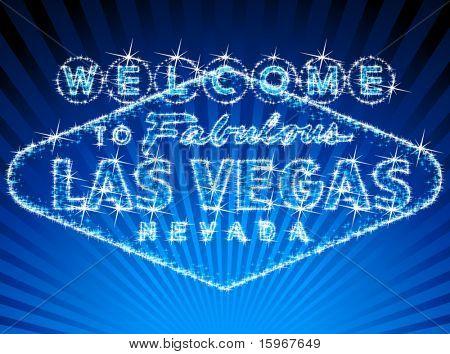¡ Bienvenido a Las Vegas stars signo shinning