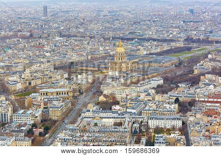 Aerial View Of Les Invalides In Paris