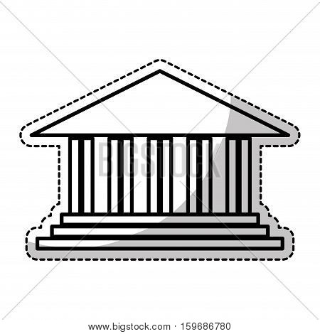 ancient greek building icon image vector illustration design