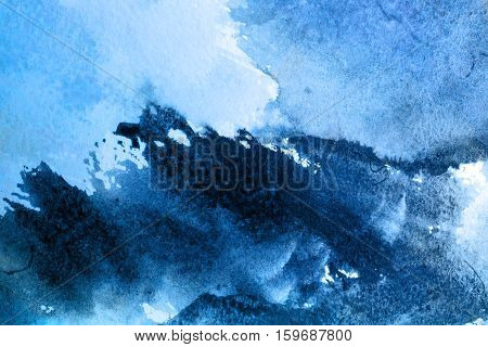Abstract watercolor painted background old texture vintage
