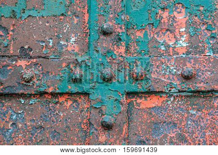 old rusty painted iron abstract background texture