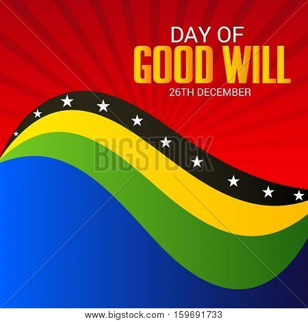 illustration of a Banner For Day of Good Wil.