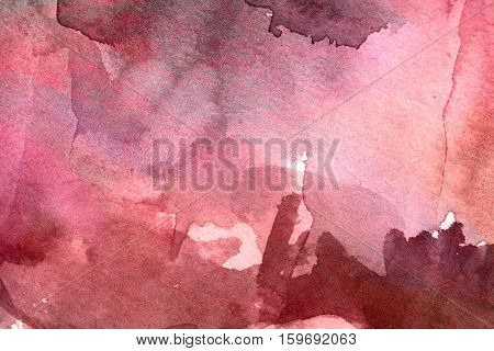 bright red watercolor background paper art wet grunge