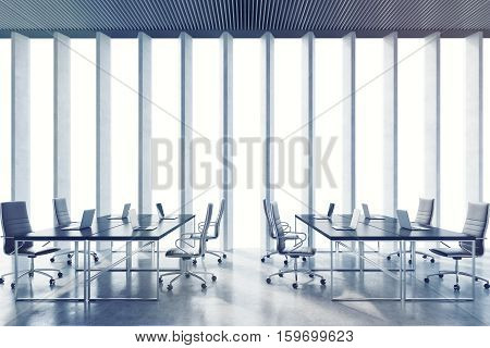 Conference Room With Narrow Window Shades