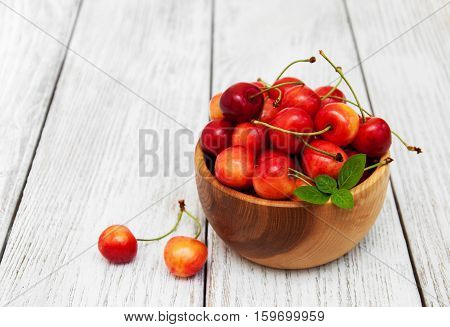 Bowl With Sweet Cherry Merry