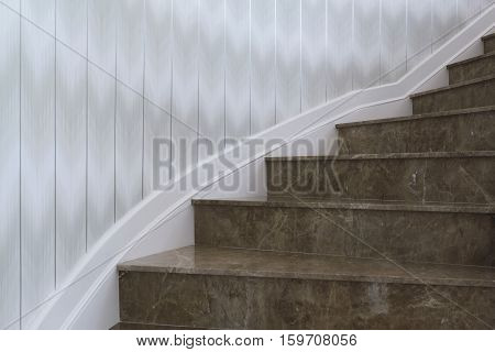 House staircase paved with marble, House staircase