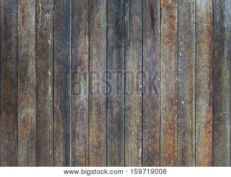 Old dark brown wood boards background texture