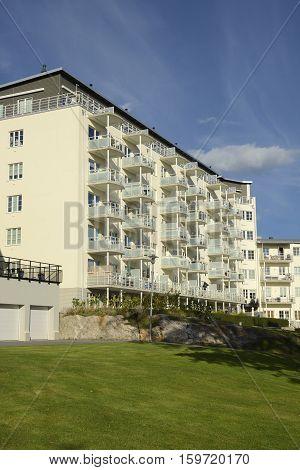 Modern apartment buildings, Nynäshamn - Sweden .