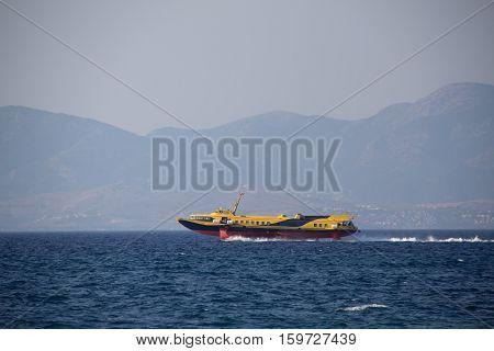 Passenger hydrofoil / Greek hydrofoil passenger service running between the islands and Turkey.