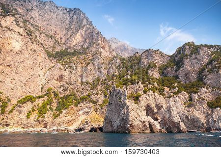 Landscape With Rocky Coast Of Capri Island