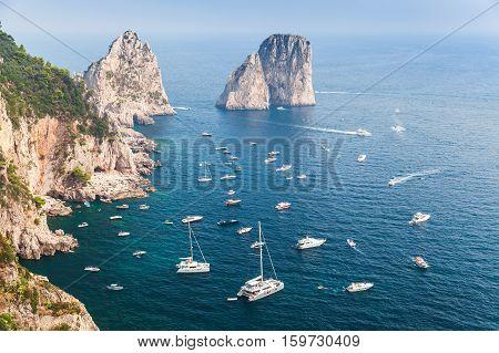 Capri Island, Italy. Mediterranean Sea