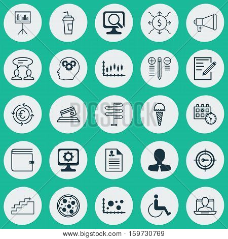 Set Of 25 Universal Editable Icons. Can Be Used For Web, Mobile And App Design. Includes Elements Such As Keyword Marketing, Wallet, Comparison And More.