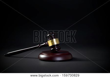 Law Gavel Business Card Copy Space