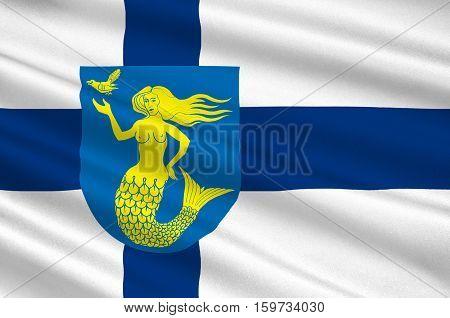 Flag Of Paijanne Tavastia region in Finland. 3d illustration
