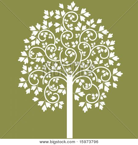 coil leaf tree vector