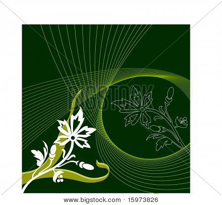 leaves grass and netting vector