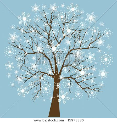 Snowflake tree four snowflake designs layered for easy editing (Just like my Cindy's)