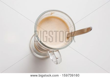 Cup Of Coffee, Top View.