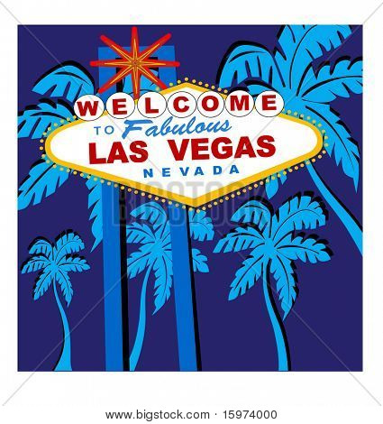 welcome to Las Vegas sign vector