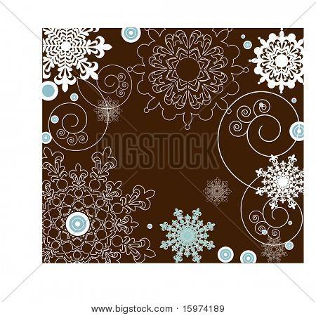 quadro de floco de neve