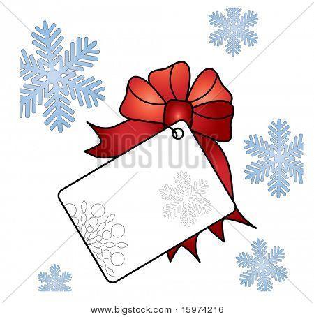 vetor de etiqueta de presente de Natal