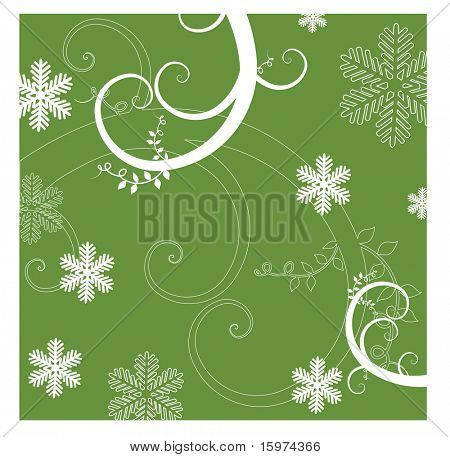 coil vine winter background 3 of 3 vector