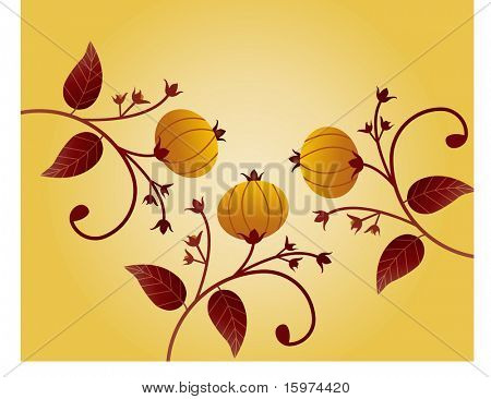 fall harvest vector (use with or without pumpkins)