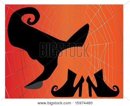 witches hat and shoes