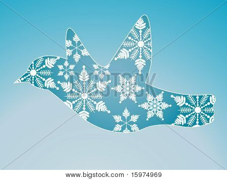 winter snow bird decorative layered can use snowflakes separately