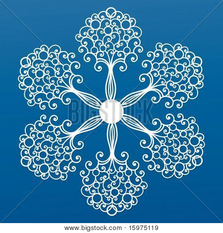ornate coil snowflake