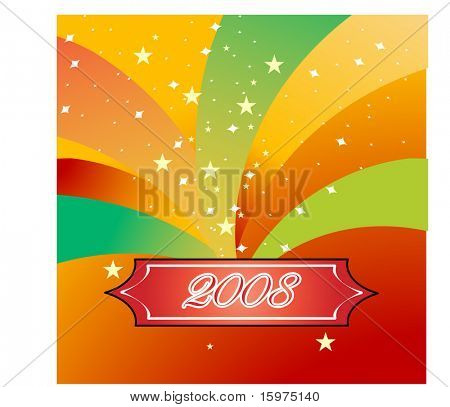 celebrate 2008 new year use with or without text